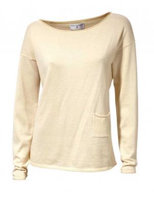 RICK CARDONA krēmīgas krāsas stilīgs sieviešu kokvilnas džemperis
