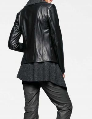 Ādas melna jaka ar vilnas džemperi HEINE