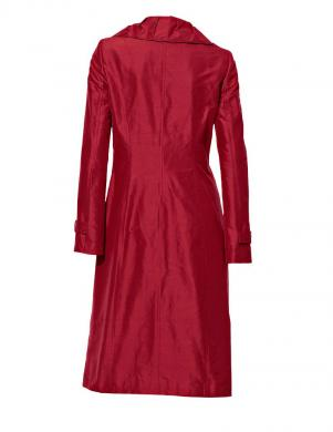 S. MADAN sarkanas krāsas sieviešu zīdains mētelis