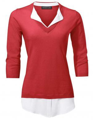 Sarkans divdaļīgs džemperis PATRIZIA DINI