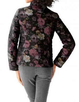 LINEA TESINI puķaina melnas krāsas sieviešu jaka
