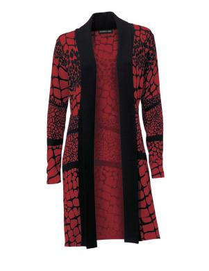 PATRIZIA DINI sarkanas/melnas krāsas stilīgs sieviešu kardigans