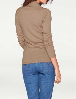 Brūns vilnas sieviešu džemperis PATRIZIA DINI