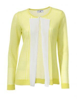 RICK CARDONA dzeltenas/baltas krāsas skaists sieviešu kardigans