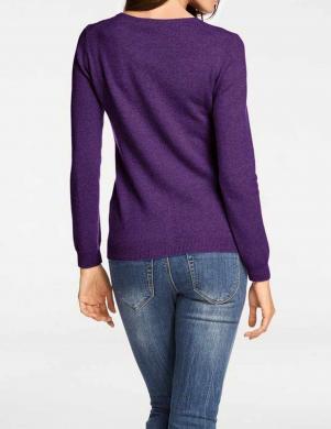 Violets aiztaisāms kašmira džemperis PATRIZIA DINI