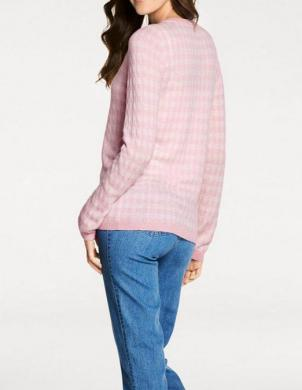 Rozā rūtains džemperis ar kašmiru PATRIZIA DINI