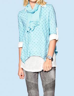 MANDARIN sieviešu balts krekls ar blūzi un šalli