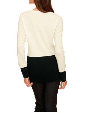 Melns ar krēmīgu džemperis no kašmira HEINE