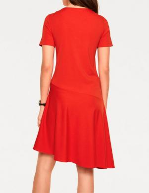 Sarkana asimetriska kleita RICK CARDONA