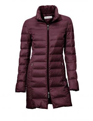 ASHLEY BROOKE bordo krāsas skaista sieviešu dūnu jaka
