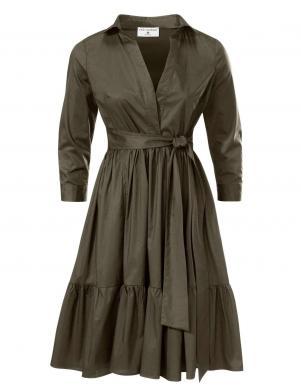 Zaļa stilīga kleita RICK CARDONA