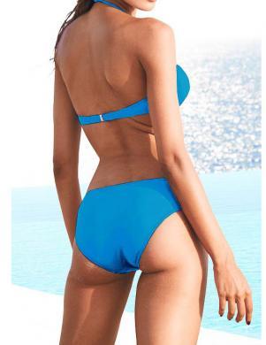 HEINE zilas krāsas divu daļu sieviešu peldkostīms