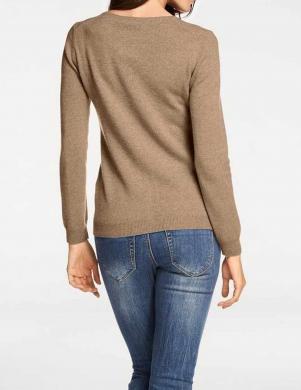 Brūns aiztaisāms kašmira džemperis PATRIZIA DINI