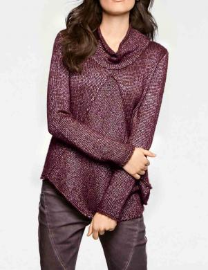 Bordo krāsas džemperis ar platu apkakli LINEA TESINI