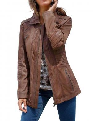 Brūna dabīgas ādas jaka MAINPOL