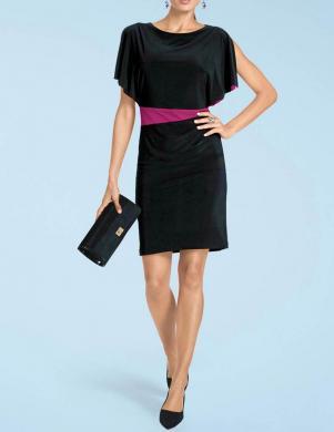 Melna-rozā  trikotāžas kleita HEINE