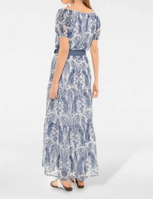 Gara romantiska balta zila rakstaina kleita RICK CARDONA