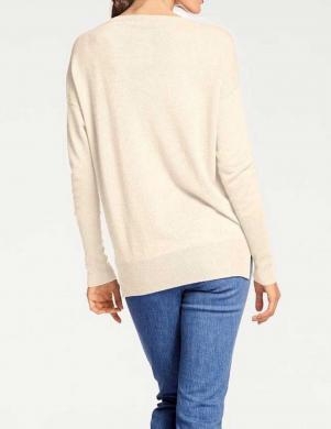 Garš krēmīgas krāsas kašmira džemperis PATRIZIA DINI