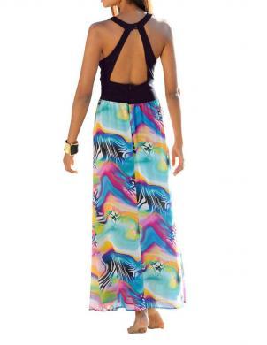Vasaras gara krāsas kleita ALBA MODA