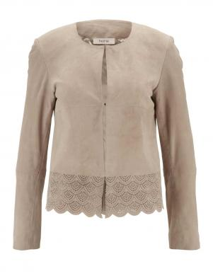 Smilšu krāsas sieviešu ādas jaka HEINE