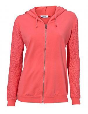 HEINE sieviešu koraļļu krāsas kokvilnas brīvā laika džemperis