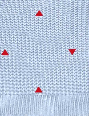 Zils džemperis ar sarkaniem trijstūriem CHEER