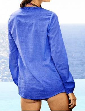 HEINE zilas krāsas skaista sieviešu kokvilnas tunika