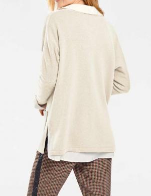 Brīvs krēmīgs džemperis ar vilnu RICK CARDONA