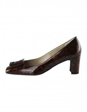 Sieviešu brūni lakoti ādas apavi HEINE