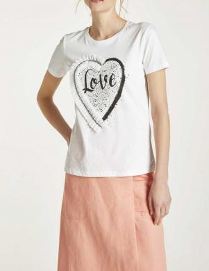 Balts krekls LOVE HEINE