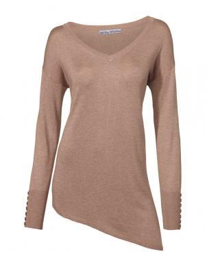ASHLEY BROOKE krēmīgas krāsas stilīgs sieviešu džemperis