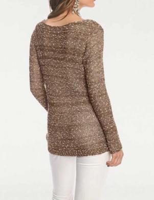 Brūna/zelta krāsas džemperis RICK CARDONA