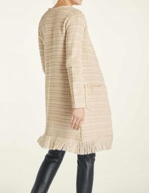 Garš smilsu krāsas džemperis ar bārkstīm HEINE