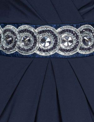 MELROSE gara grezna tumši zilas krāsas sieviešu kleita