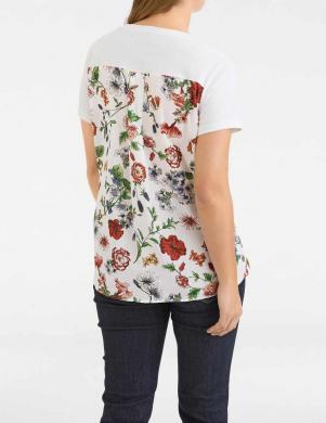 Balts sieviešu krekls ar aplikāciju RICK CARDONA