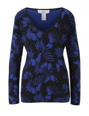 Melns/zils sieviešu džemperis HEINE