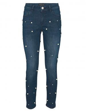 PATRIZIA DINI Tumši zili sieviešu džinsi