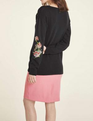 Melns puķains izšūts džemperis  HEINE
