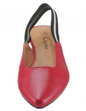 Elegantas sarkanas sieviešu sandales CITY WALK