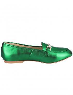 Stilīgi zaļi sieviešu ādas apavi HEINE