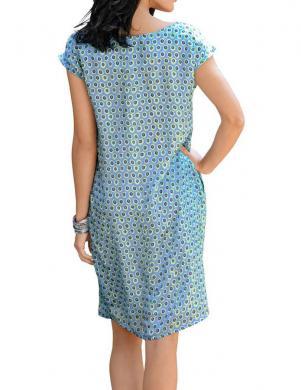 ALBA MODA zilas krāsas zīda sieviešu kleita