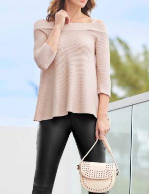Smilšu krāsas džemperis ar atvērtiem pleciem HEINE