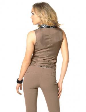 MELROSE brūnas krāsas stilīga sieviešu veste