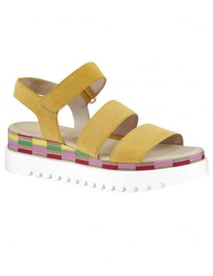 Dzeltenas sandales ar augstu zoli GABOR