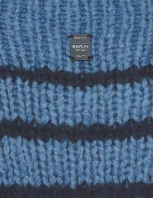 Zils sieviešu džemperis REPLAY