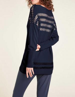 Tumši zils džemperis ar caurspīdīgām sloksnēm HEINE