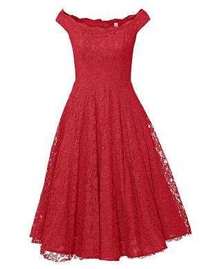 Grezna sarkana ģipūra kleita ar pūstiem svārkiem HEINE