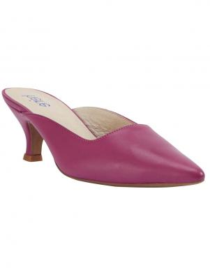 Elegantas rozā augstpapēžu ādas sieviešu čības HEINE