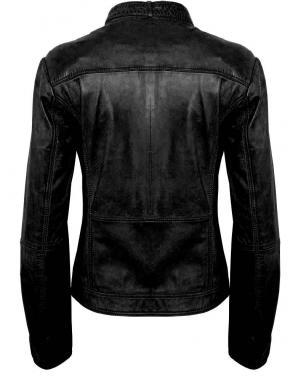 Melna ādas jaka CROSS LINERS