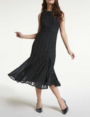 Melna kleita ar ielocēm HEINE